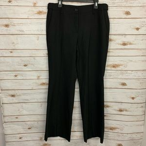 Loft Kate Black Bootcut Wide Leg Career Dress Pant